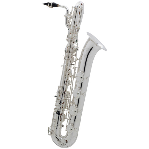 Selmer Paris Professional Model 55AFJS Bari Saxophone, Silver Plated