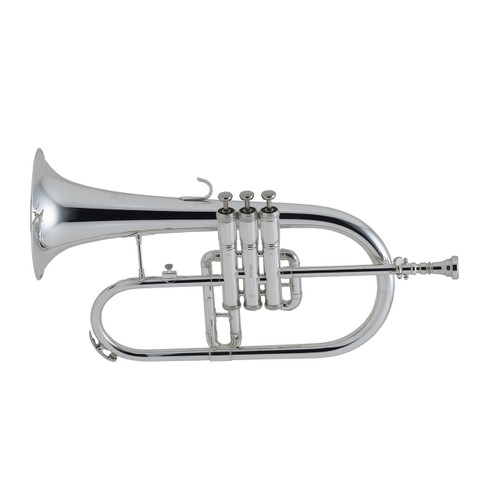 King Student Model 650SP Flugelhorn, Silver Plated