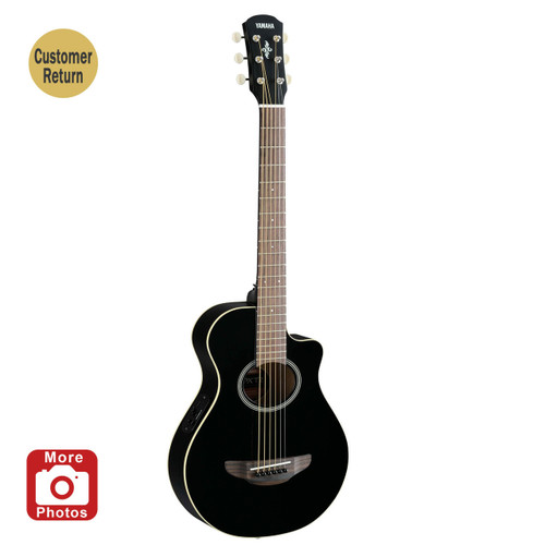 Yamaha APXT2BL Acoustic-Electric Guitar; Black; 3/4 Size Customer Return