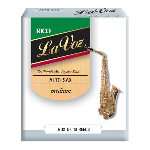 La Voz Alto Sax Reeds, Strength Medium, 10-pack