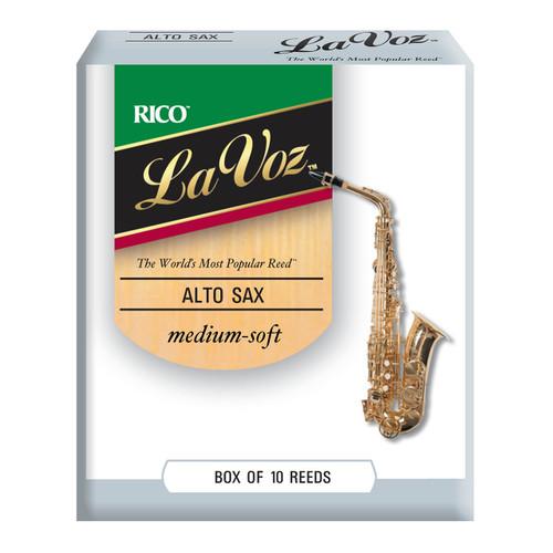 La Voz Alto Sax Reeds, Strength Medium-Soft, 10-pack