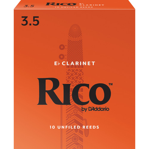 Rico Eb Clarinet Reeds, Strength 3.5, 10 Pack