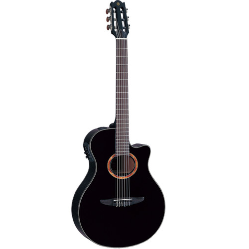 Yamaha NTX700BL Acoustic-Electric Classical Guitar; Black