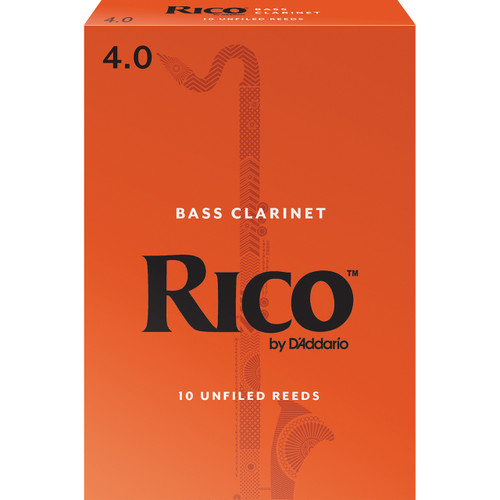 Rico Bass Clarinet Reeds, Strength 4.0, 10-pack