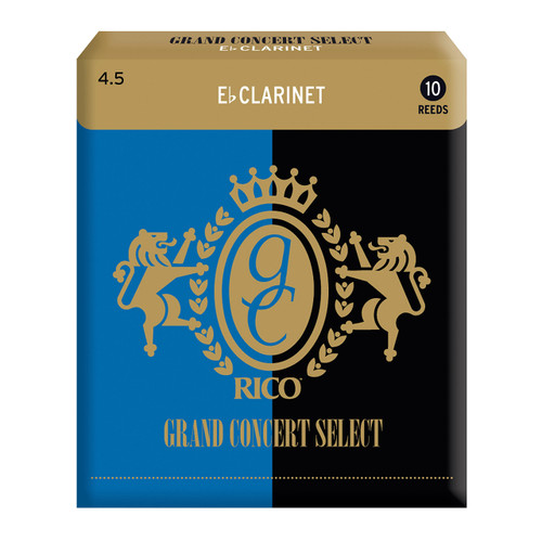 Rico Grand Concert Select Eb Clarinet Reeds, Strength 4.5, 10-pack