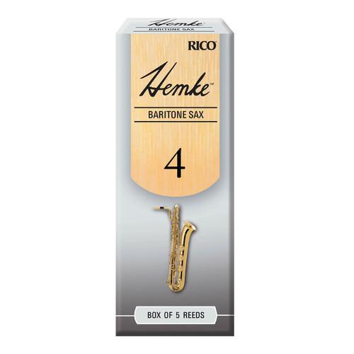 Hemke Baritone Sax Reeds, Strength 4.0, 5-pack