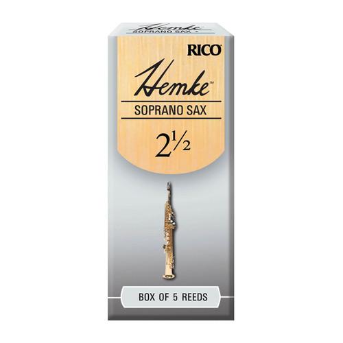 Hemke Soprano Sax Reeds, Strength 2.5, 5-pack