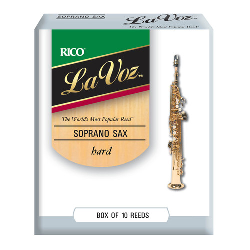 La Voz Soprano Sax Reeds, Strength Hard, 10-pack