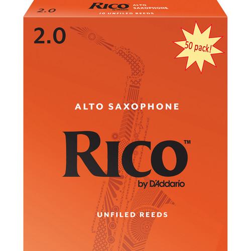 Rico Alto Sax Reeds, Strength 2.0, 50-pack