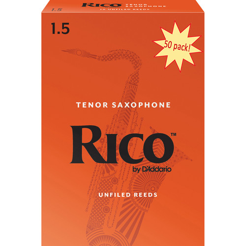 Rico Tenor Sax Reeds, Strength 1.5, 50-pack