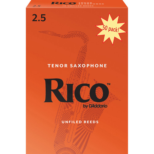 Rico Tenor Sax Reeds, Strength 2.5, 50-pack