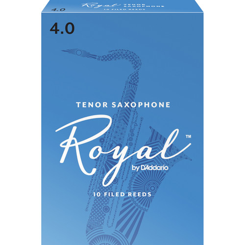 Rico Royal Tenor Sax Reeds, Strength 4.0, 10-pack