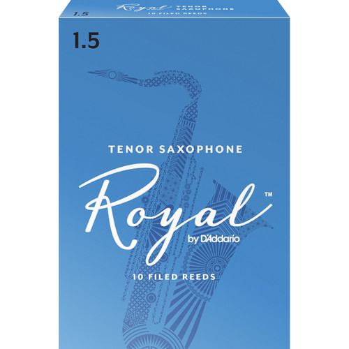Rico Royal Tenor Sax Reeds, Strength 1.5, 10-pack