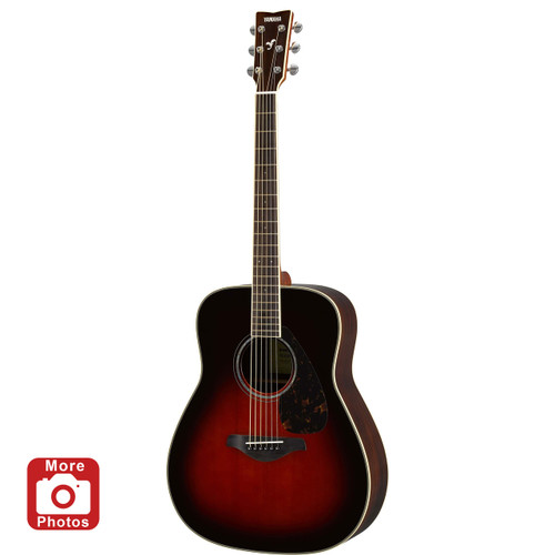 Yamaha FG830TBS Acoustic Guitar; Tobacco Brown Sunburst