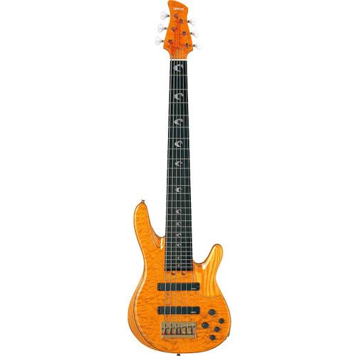 Yamaha TRBJP2CASEAM John Patitucci Signature Bass Guitar with Case; Amber