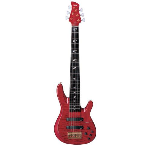 Yamaha TRBJP2CASETDR John Patitucci Signature Bass Guitar with Case, Translucent Dark Red