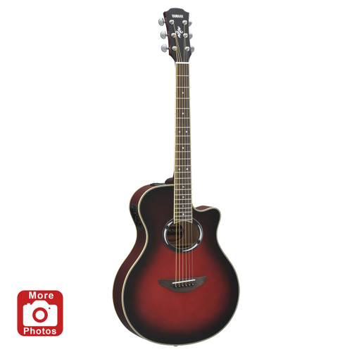 Yamaha APX500IIIDSR Thinline Acoustic-Electric Guitar;  Dusk Sun Red