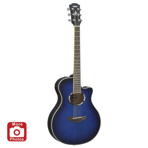 Yamaha APX500IIIOBB Thinline Acoustic-Electric Guitar; Oriental Blue Burst