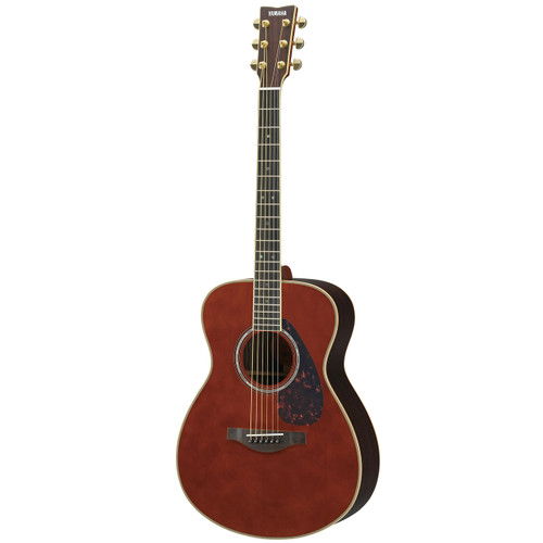 Yamaha LS16RDARKTINTEDHC Handcrafted Acoustic Guitar with Hard-Shell Case; Dark Tinted