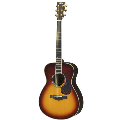 Yamaha LS16RBSHC Handcrafted Acoustic Guitar with Hard-Shell Case; Brown Sunburst