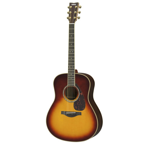 Yamaha LL16RBSHC Handcrafted Acoustic Guitar with Hard-Shell Case; Bown Sunburst