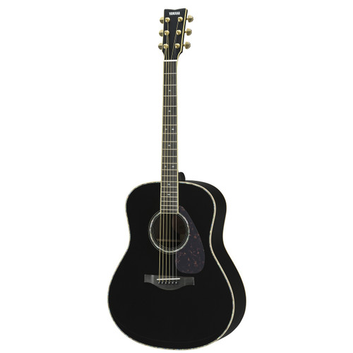 Yamaha LL16DRBLHC Handcrafted Acoustic Guitar with Hard-Shell Case; Black