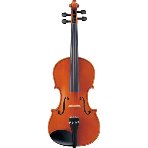 Yamaha AV5-12SKU/TI-135B Upgraded Acoustic Violin; 1/2 Size; Thomastic Dominant Strings; Glasser Bow
