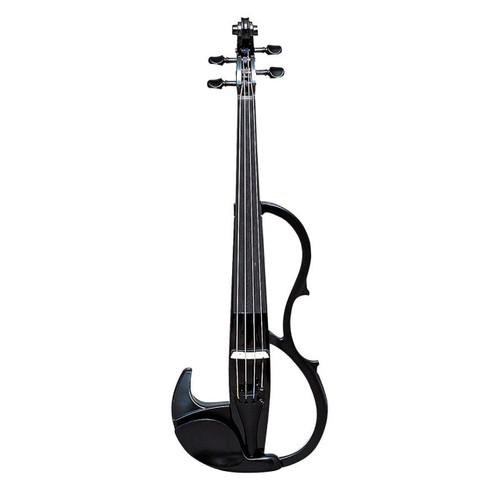 Yamaha SV-200KBLK Silent Violin; Full Size; Solid-Body; Black; Instrument Only