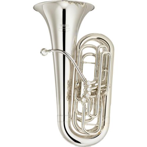 Yamaha YCB-621S Tuba; 3/4 Size; Silver-Plated
