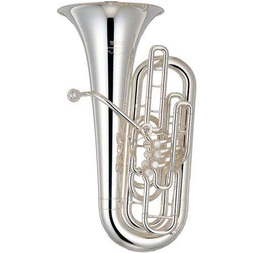 Yamaha YFB-621S Tuba; 3/4 Size; Silver-Plated