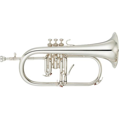 Yamaha YFH-8315GS Custom Flugelhorn; Gold-Brass Bell; Silver-Plated