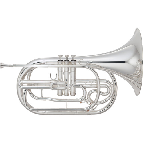 Yamaha YHR-302MS Marching French Horn; Silver-Plated