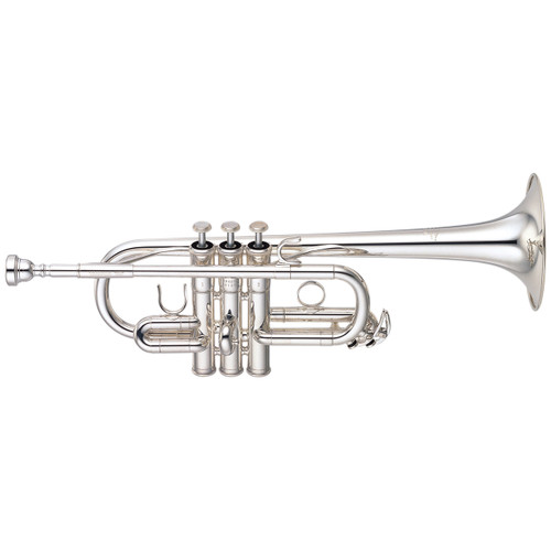 Yamaha YTR-6610S Trumpet; Professional Keyed; Silver-Plated