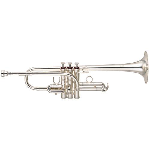 Yamaha YTR-9635 Custom Trumpet; Key of E/Eb; Silver-Plated