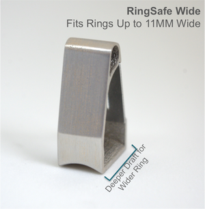 The RingSafe Wide is a sleek and modern way to keep rings up to 11mm wide safe and sound!