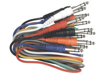 Hosa Stereo Patchbay 1/4 in. Phone Male to 1/4 in. Phone Male Cable TRS