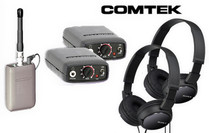 Comtek Bundle - Two Beltpack Receiver System with Sony Headphones