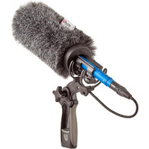 Rycote 18cm Standard Hole (19/22) Softie w/ Duo-Lyre Pistol Grip Shock Mount Bundle