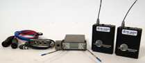 Used Lectrosonics SRA/5P Dual Channel Receiver & (2) UM400a Transmitters w/ SREXT Adapter & Cables - Block 26