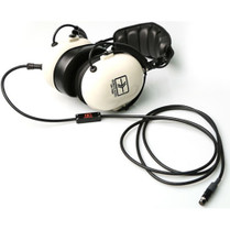 Remote Audio Modified HN7506 Headphones with Quick-Release 5-Pin Female Binder to TA5F Straight Electret Headset Cable (6')