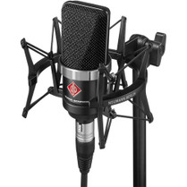 Neumann TLM-102 Large Diaphragm Studio Condenser Microphone (Studio Set, Black)