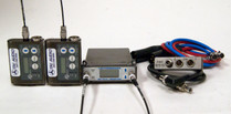 Used Lectrosonics SRB Dual Channel Receiver and (2) SMV Transmitters with SREXT Adapter and Cables - Block 21