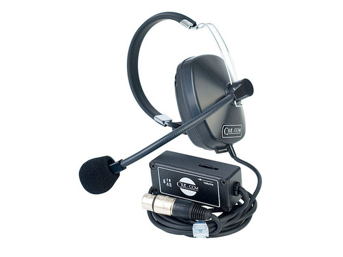 Clear-Com SMQ1 Que Com Single Ear Headset/Beltpack