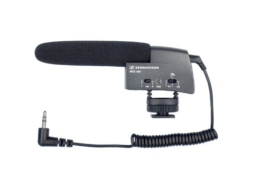 Sennheiser MKE 400 Supercardioid Camera Mount Shotgun Microphone