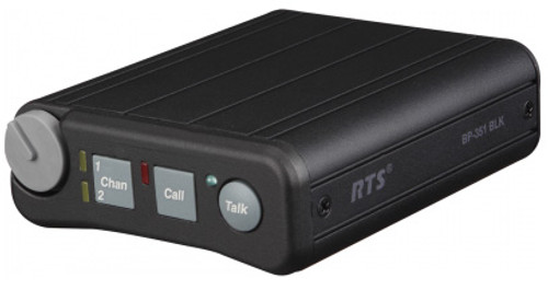 RTS BP351 4PIN BLACK Dual Channel Portable Metal Beltpack