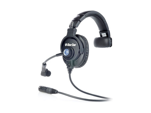 Clear-Com CC300-Y4 Single Enclosed Ear Intercom Headset XLR-4M