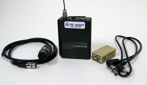 Used Lectrosonics T2 IFB Transmitter - Block 21 w/ Battery Eliminator & Cables