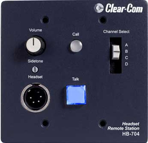 Clear-Com HB-704 Intercom Headset Station, 4 Channel