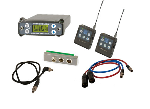 Lectrosonics SRC Kit W/ 2x LT Transmitters, SREXT, Output Cables and BDS Cable, B1 (537.600 - 614.375 MHz; Blocks 21, 22 & 23)