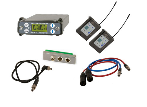 Lectrosonics SRC Kit W/ 2x LMb Transmitters, SREXT, Output Cables and BDS Cable, A1 (470.100 - 537.575 MHz; Blocks 470, 19, and 20)
